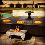 The tomb of Mahatma Gandhi, Raj Ghat, on my way to New Delhi from Agra.