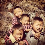 Children gathered as I got closer to the end of my trek in Langtang. They were a good laugh after a long hike.
