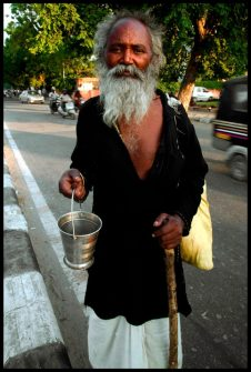 A holy man in Jaipur, India.